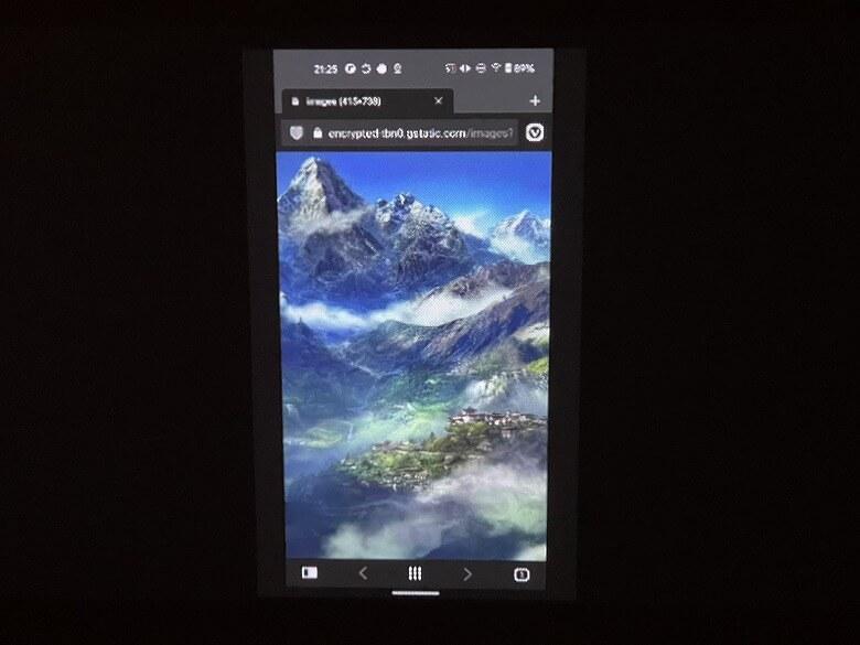 AKASO ミニビデオプロジェクター Android投影