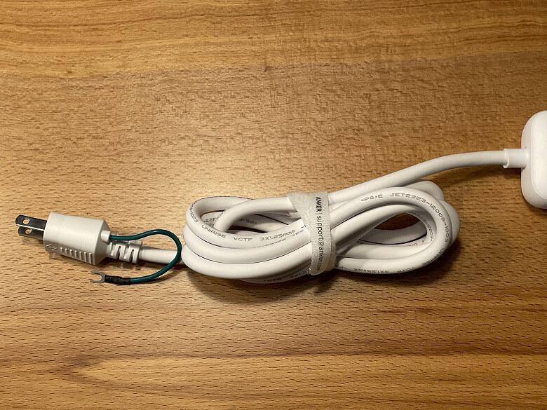 Anker PowerPort Strip PD 3 電源コード
