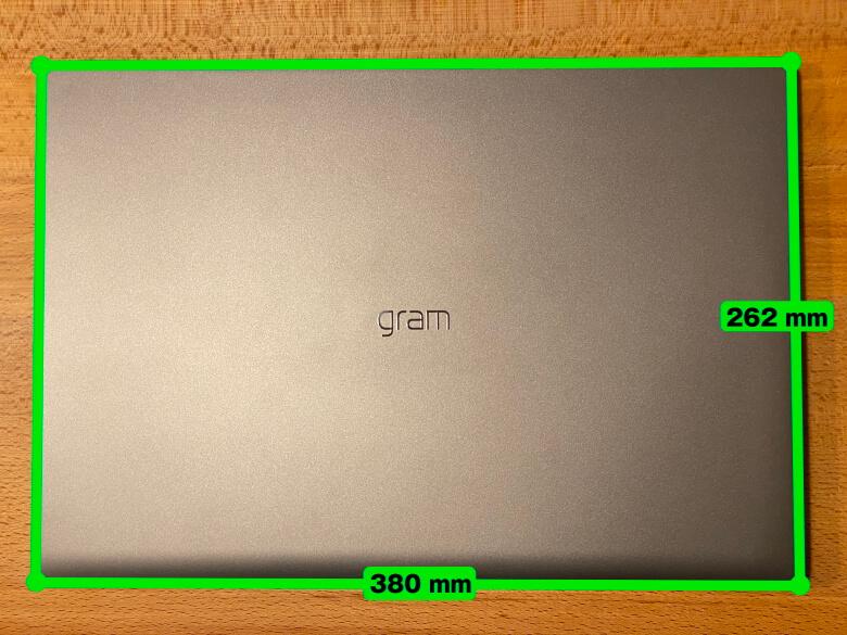 LG gram 17Z90N サイズ