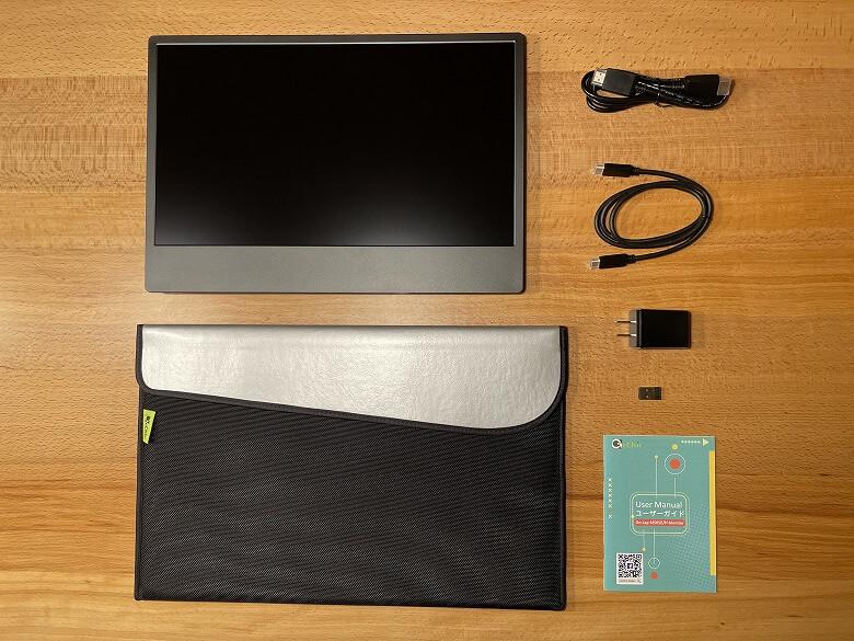GeChic モバイルモニター On-Lap M505E 同梱物