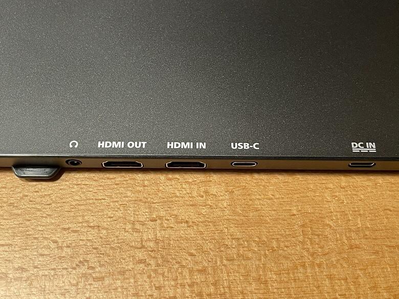 GeChic モバイルモニター On-Lap M505E 各種ポート