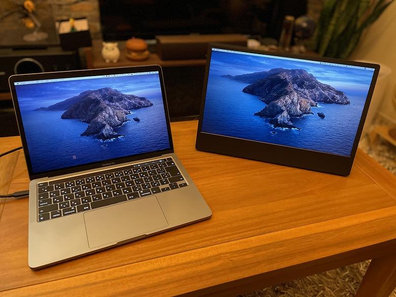 GeChic モバイルモニター On-Lap M505E MacBook Proと接続