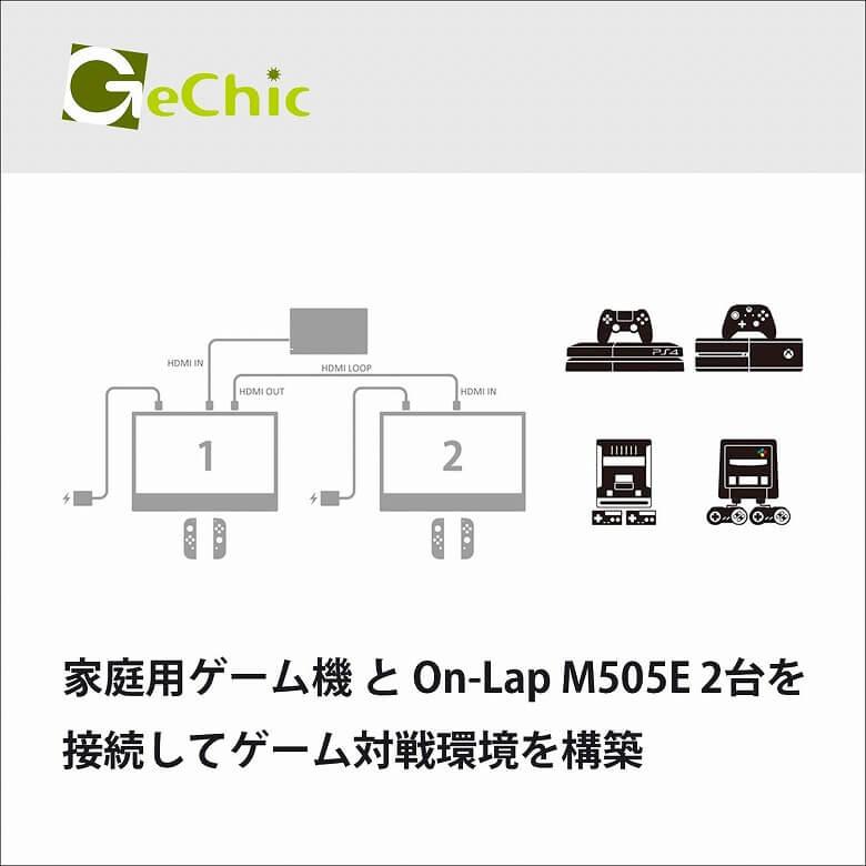 GeChic モバイルモニター On-Lap M505E 複数のモニターに映す