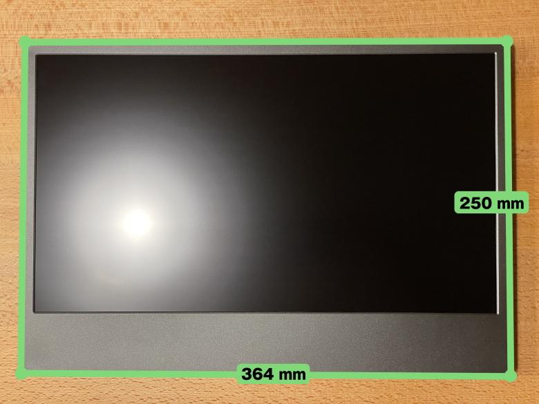 GeChic モバイルモニター On-Lap M505E サイズ