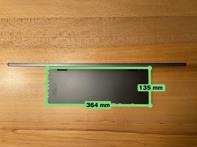 GeChic モバイルモニター On-Lap M505E I/Oベースサイズ