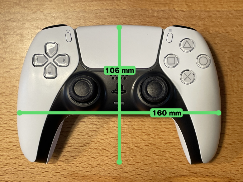 PlayStation 5 コントローラーサイズ