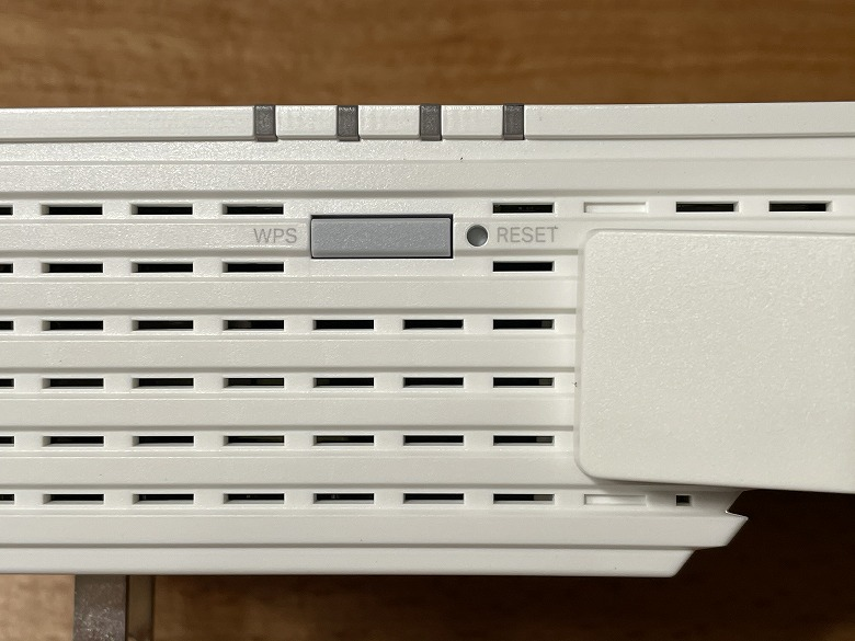 TP-Link RE605X WPSボタンとRESETボタン