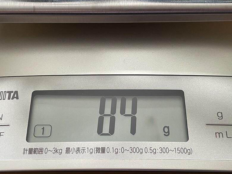 RAVPower RP-PC136 ACケーブル重さ