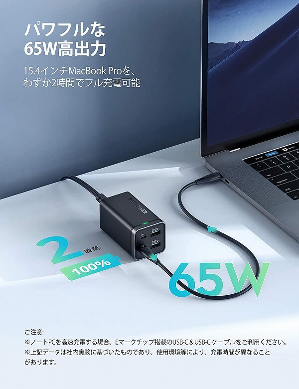 RAVPower RP-PC136 65W高出力