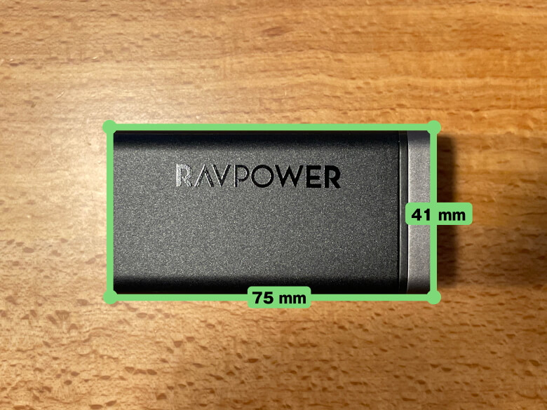 RAVPower RP-PC136 サイズ