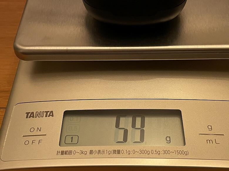 COUMI ANC-860 充電ケースの重さ