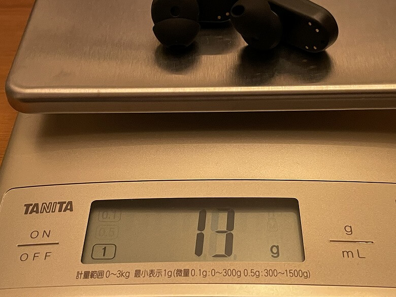 COUMI ANC-860 イヤホン重さ