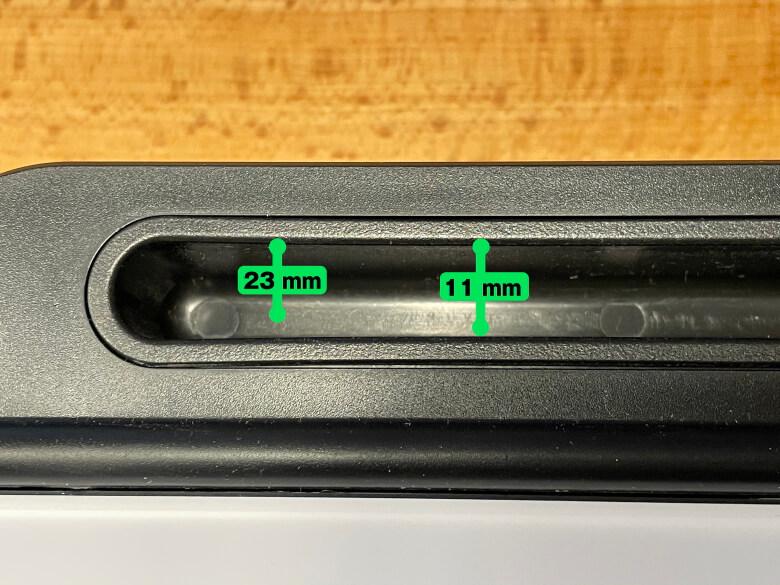 MEMOTTE マルチホワイトボード 溝のサイズ