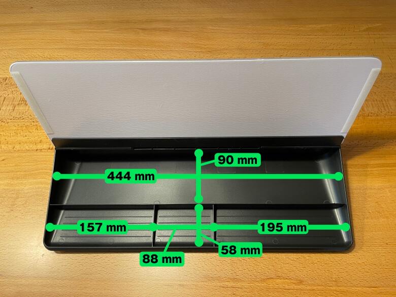 MEMOTTE マルチホワイトボード 収納スペースのサイズ