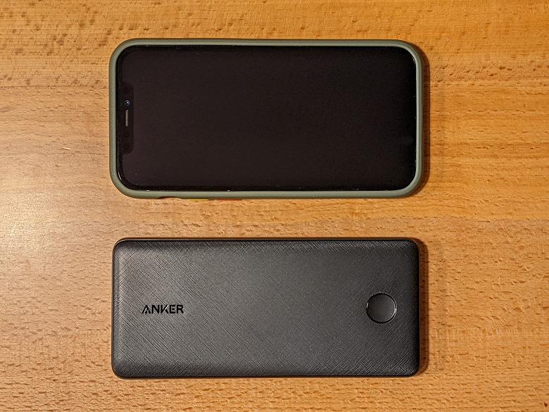 Anker PowerCore Slim 10000 PD 20W スマホと比較