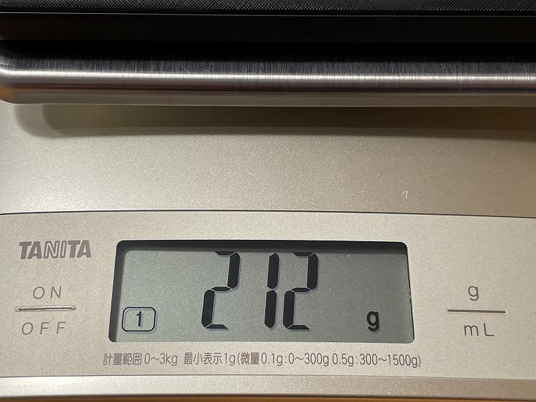 Anker PowerCore Slim 10000 PD 20W 重さ
