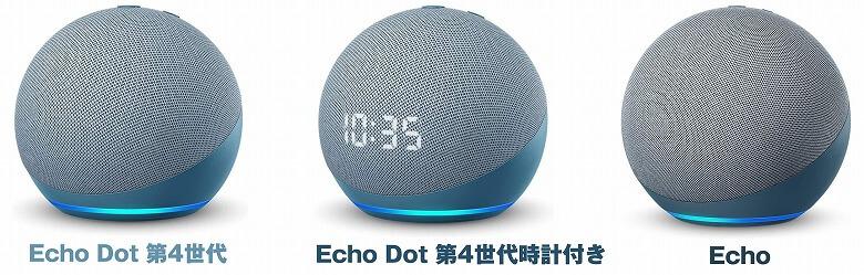 他のAmazon Echoモデルとの比較
