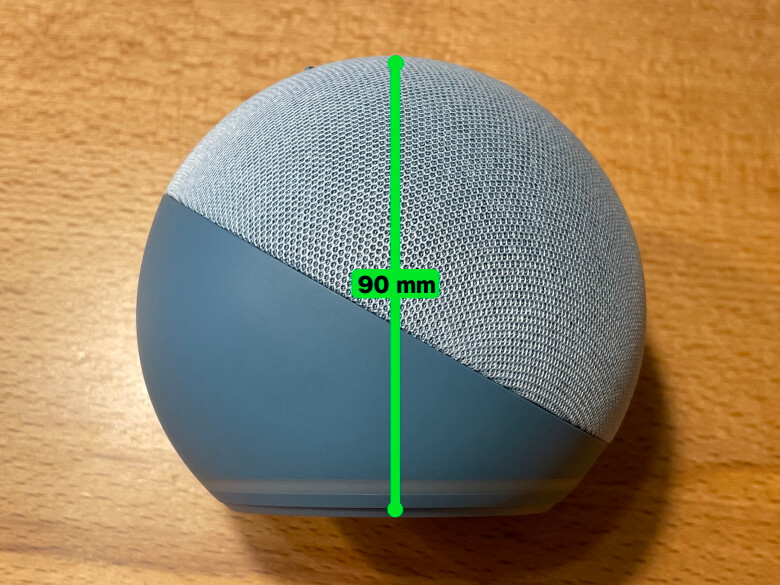 Amazon Echo Dot 第4世代 高さ