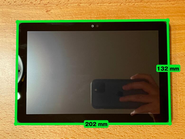 Amazon Fire HD 8 サイズ