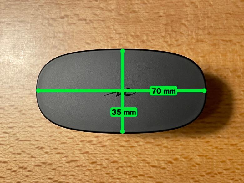 radius HP-V500BT 充電ケースサイズ
