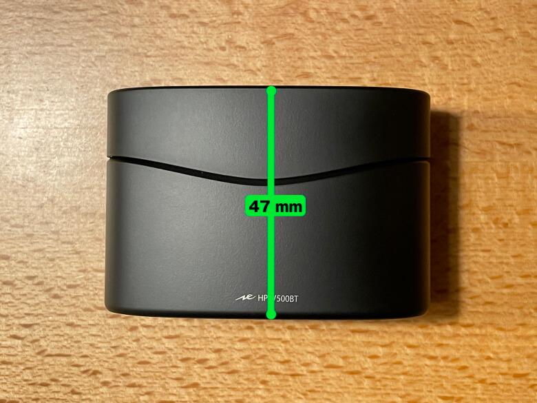 radius HP-V500BT 充電ケース高さ