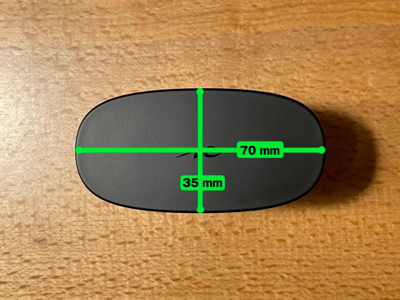 radius HP-V700BT 充電ケースサイズ