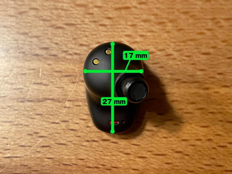 radius HP-V700BT イヤホンサイズ
