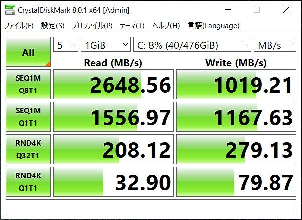 HP ENVY x360 13 CrystalDiskMark