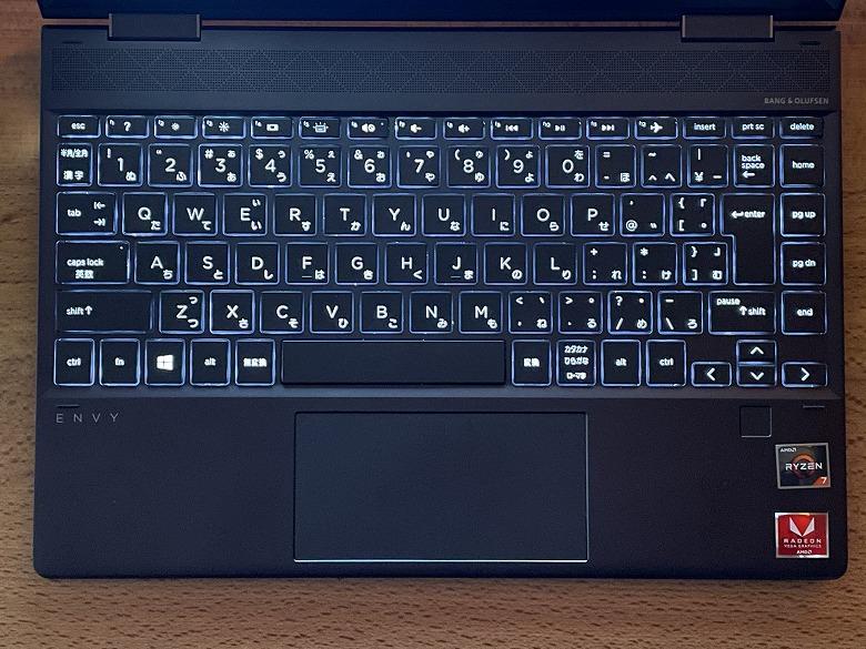 HP ENVY x360 13 キーボードバックライト