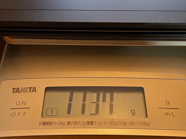 LIVXIA LUNE 重さ