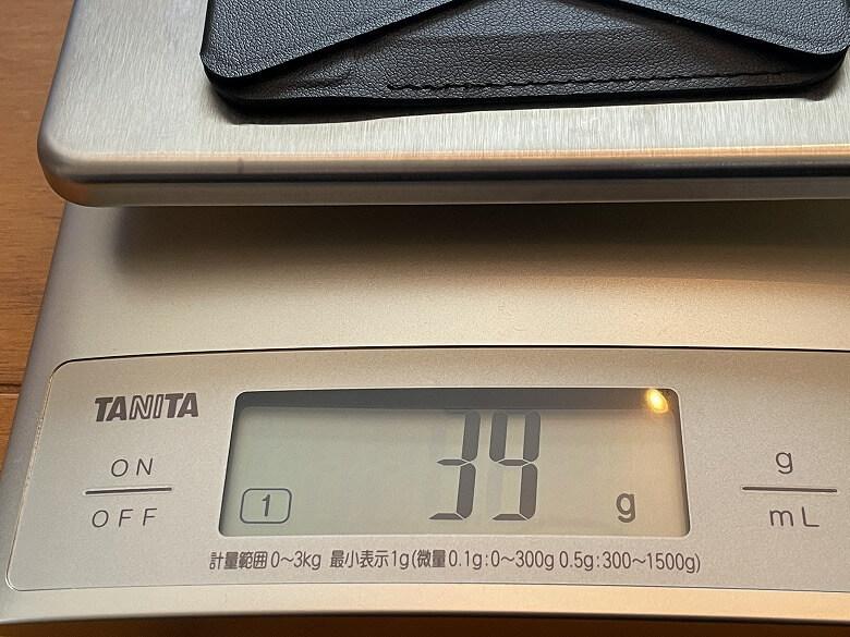 MOFT MagSafe対応ウォレット&スタンド 重さ