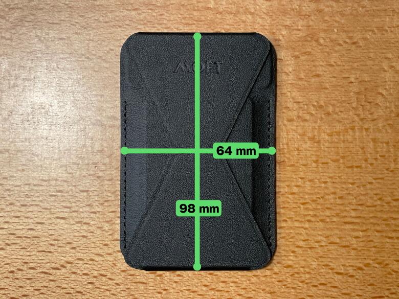 MOFT MagSafe対応ウォレット&スタンド サイズ