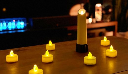 【NEW Chandelle レビュー】ロウソクの火をLEDでリアルに再現し、最大240時間の連続点灯が可能な充電式キャンドルライト