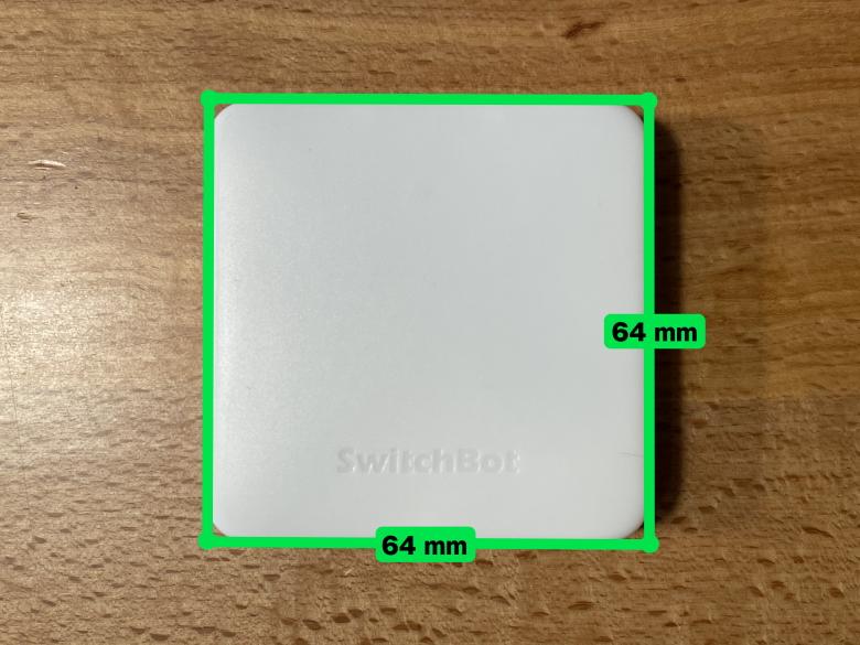 SwitchBotハブミニ サイズ