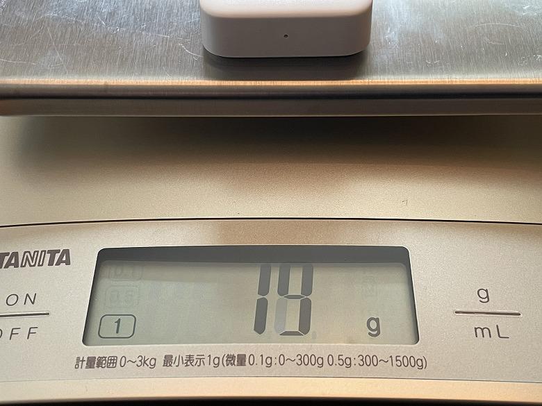 SwitchBotリモートボタン 重さ