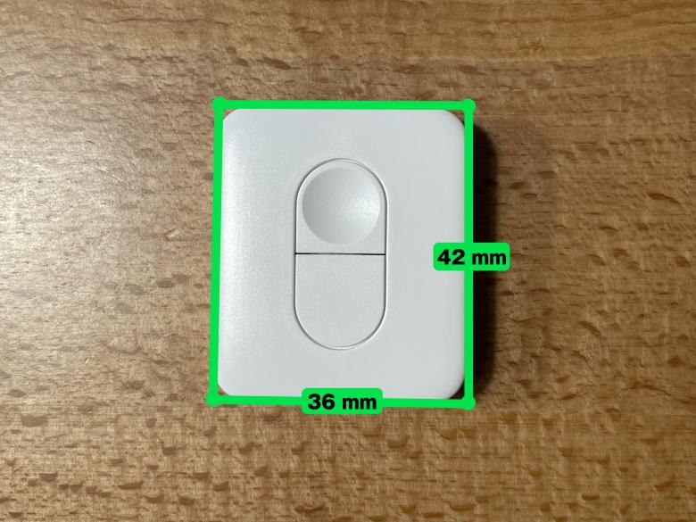 SwitchBotリモートボタン サイズ
