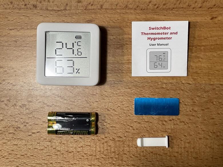 SwitchBot温湿度計 同梱物