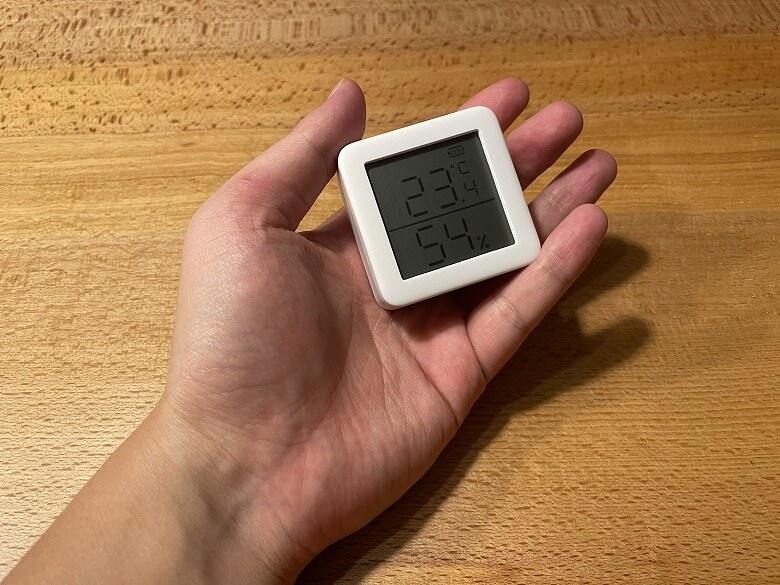 SwitchBot温湿度計 手のひらサイズ