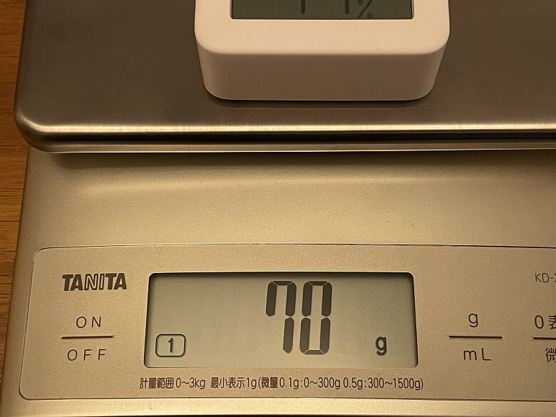 SwitchBot温湿度計 重さ