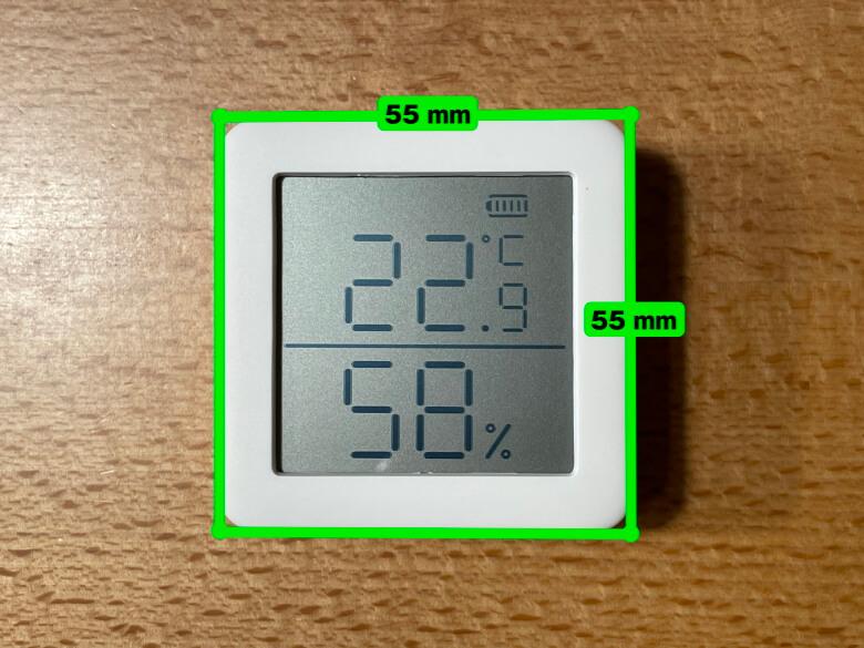 SwitchBot温湿度計 サイズ