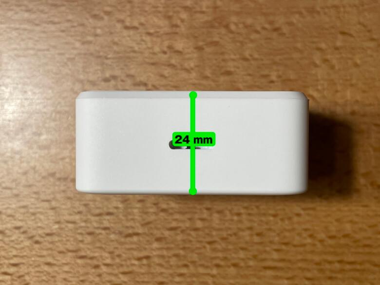 SwitchBot温湿度計 厚さ
