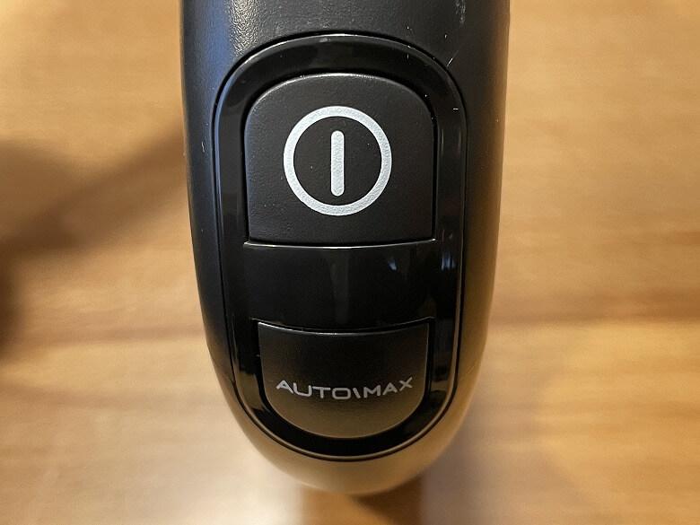 Tineco FLOOR ONE S3 電源ボタン