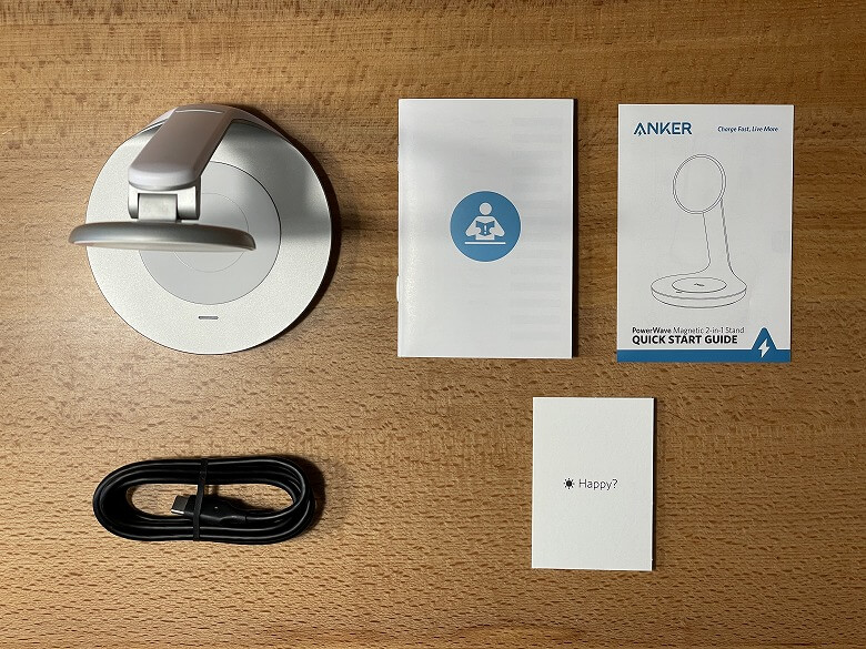 Anker PowerWave Magnetic 2-in-1 Stand 同梱物
