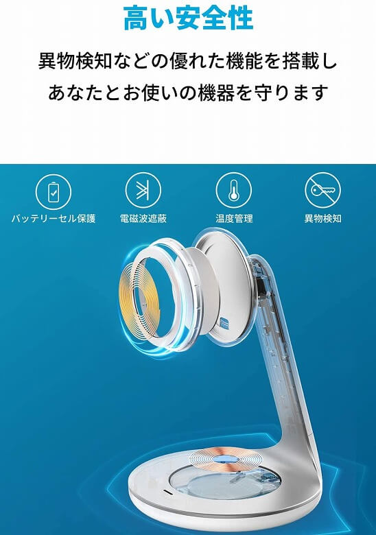 Anker PowerWave Magnetic 2-in-1 Stand 安全性