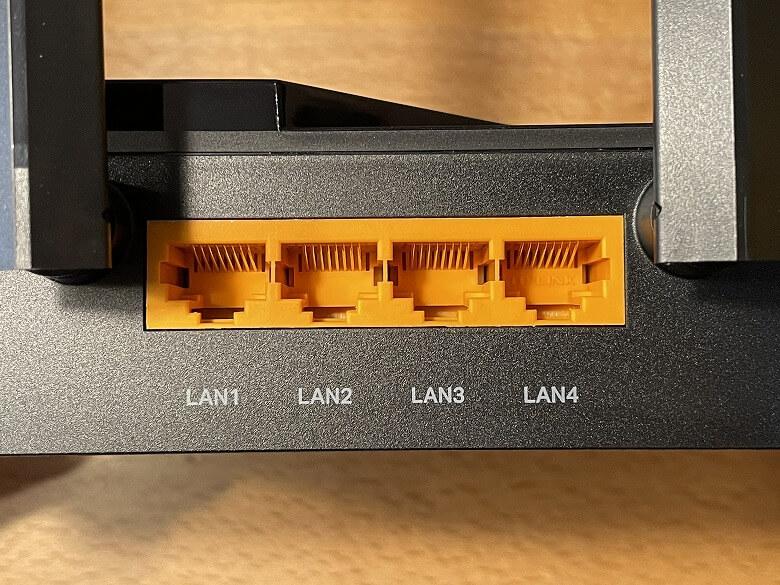Archer AX73 LANポート
