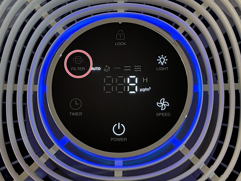 TaoTronics TT-AP005 フィルター交換インジケーター
