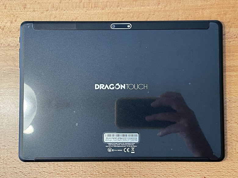 Dragon Touch MAX10 PLUS 背面