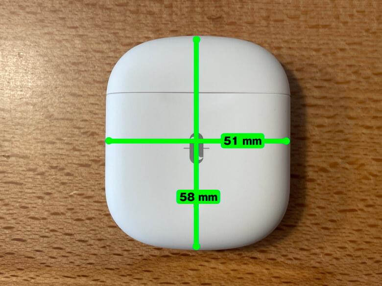 TaoTronics SoundLiberty S10 Pro 充電ケースサイズ
