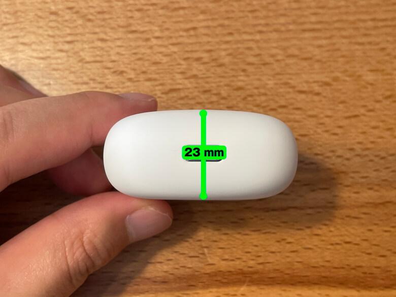 TaoTronics SoundLiberty S10 Pro 充電ケース厚さ
