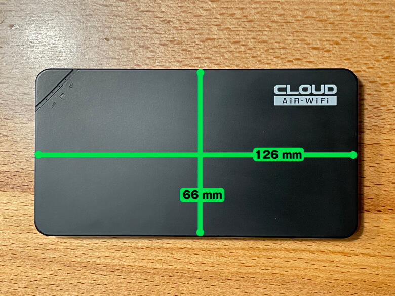 クラウドWiFi U3サイズ